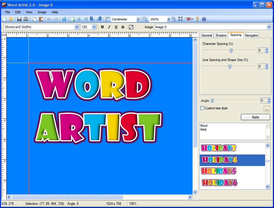 Click to view Word Artist screenshots