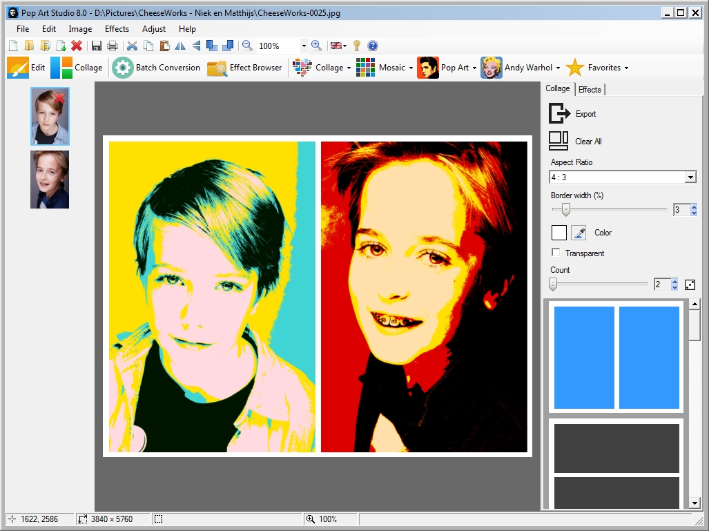 Pop Art Studio 8.1 Screen shot